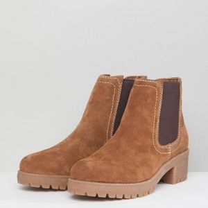 ASOS RHEA Suede Chelsea Boots